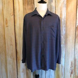 Quick Reflex Iridescent Blue Button-Down Shirt 3X